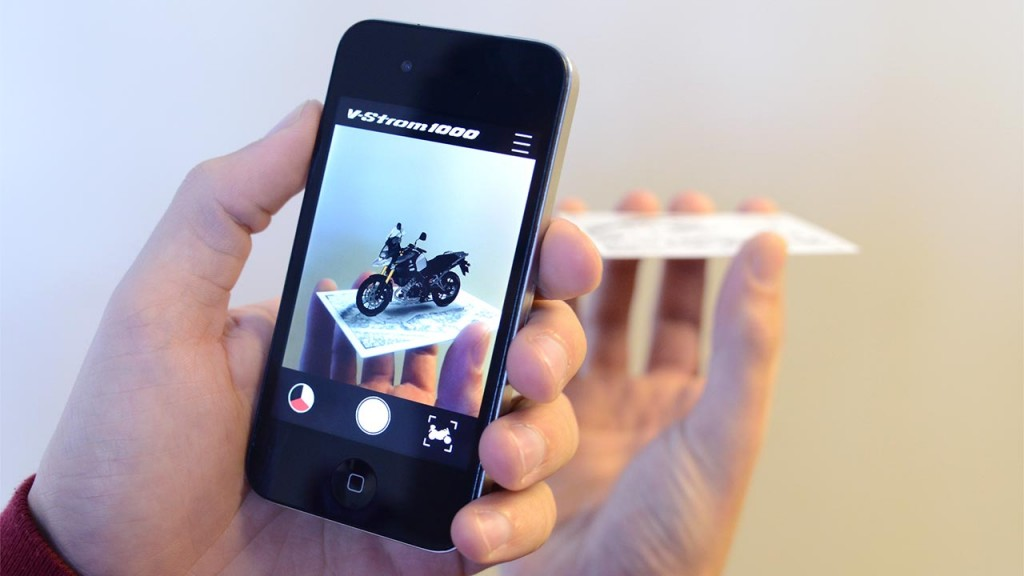 iphone showing augmented reality
