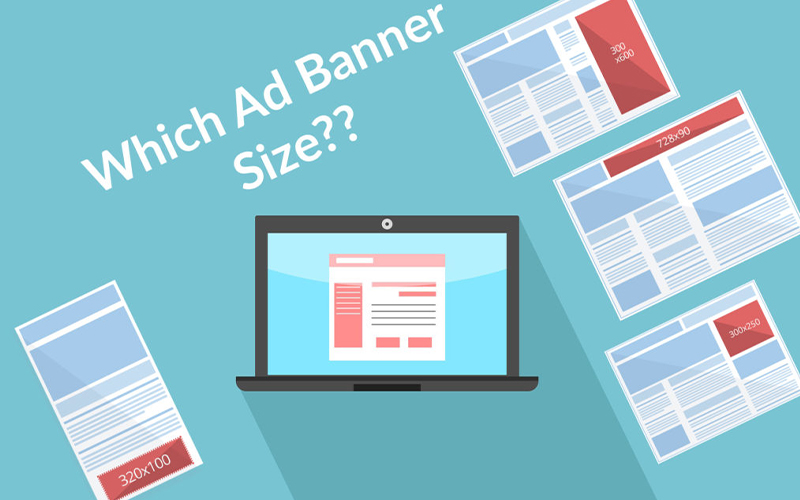 white ad banner size is best