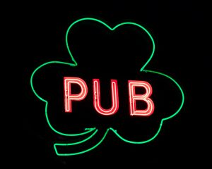 Irish pub neon sign