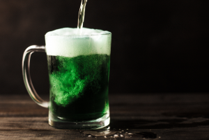 Green beer pour