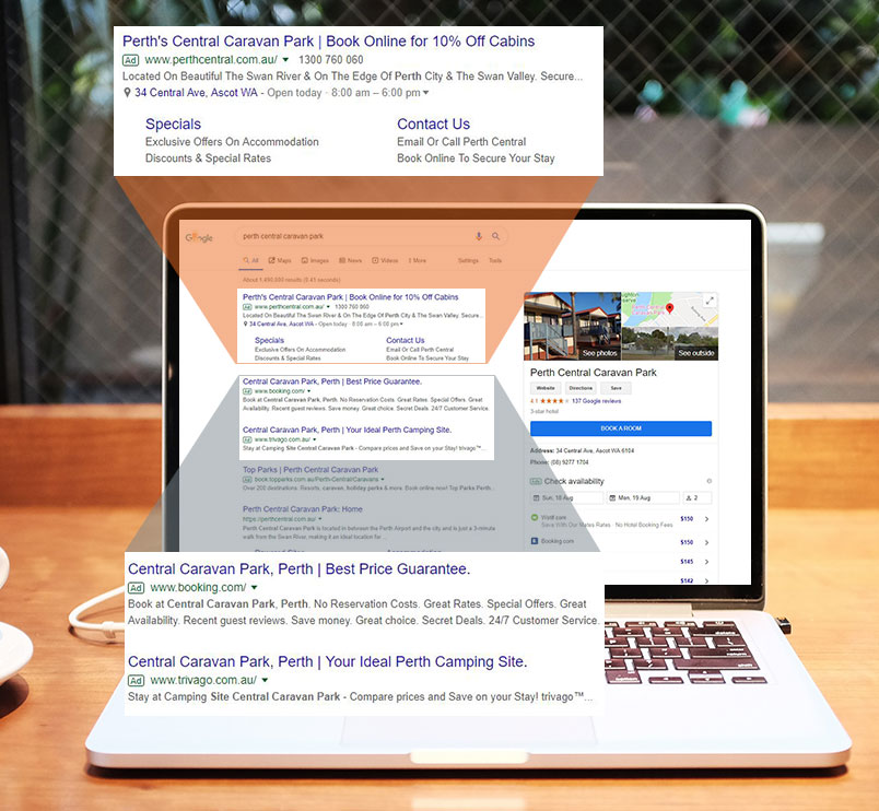 Search Engine Marketing - Perth Central Caravan Park