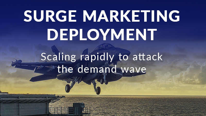 Surge marketing deployment