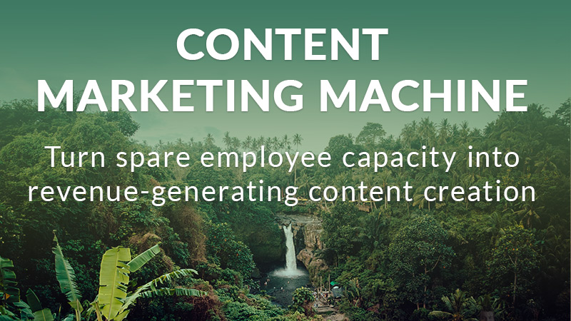 Content marketing machine strategy