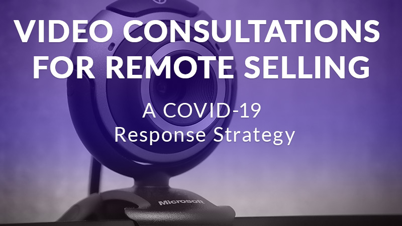 Video consultations for remote selling