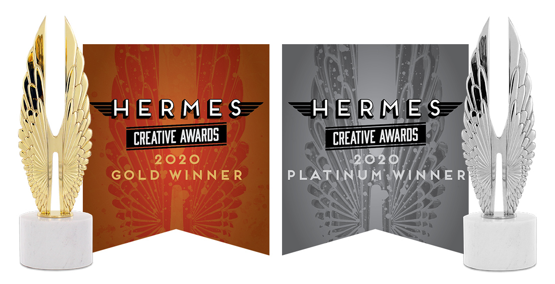 Living Online wins two 2020 Hermes Creative Awards