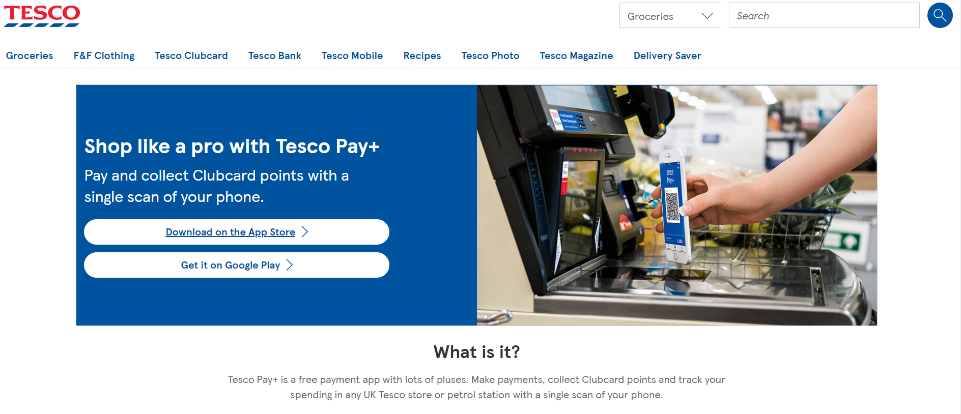 tesco pay website